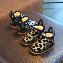 冬季儿ea雪地靴男女th3岁幼儿保暖短靴婴儿学步鞋宝宝加绒棉鞋