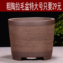 紫砂花eb欧式粗陶盆ba花盆君子兰花盆室内花卉盆栽陶瓷花盆