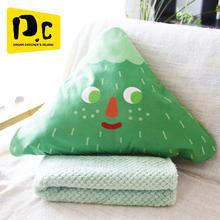 李尖尖抱枕eb2子两用汽ak靠枕空调被珊瑚绒毛毯午睡毯多功能