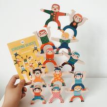 美乐宝宝大力士游戏叠叠乐积木eb11衡玩具ak教益智桌面游戏
