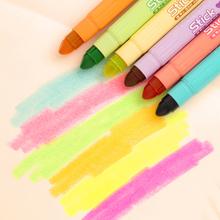 浦京  韩国创意可爱波点荧光标记笔eb14固体果ak性记号笔
