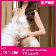 锋燕法ec白色蕾丝无al聚拢性感薄式少女内衣细带秋冬透明胸罩