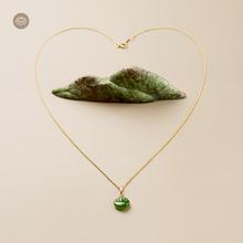 梅朵文ee (小)如意 ka古典国风设计锁骨项链14k包金 珠宝吊坠女