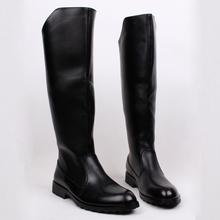 男士高帮马靴内增高长筒皮靴子护ee12保暖过yu工作靴棉靴子