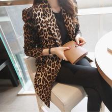 202ef春秋新式豹bu装女韩款修身显瘦OL时尚短式休闲西服外套潮