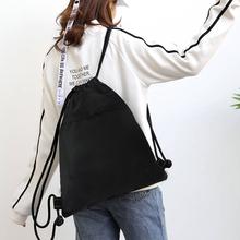 束口袋抽eh双肩包男女lt便折叠户外旅行运动简易健身背包定制