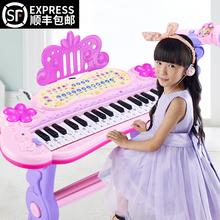 宝宝电eh琴女孩初学lt可弹奏音乐玩具宝宝多功能3-6岁1