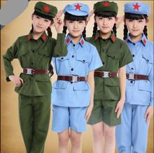 宝宝军ei中性红军闪na演出舞蹈服装红军衣服男女童(小)雷锋表演