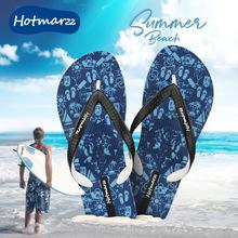 hoteiarzz拖el滑的字拖夏潮流室外沙滩鞋夹脚凉鞋男士凉拖鞋