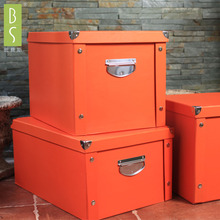 新品纸ek收纳箱储物ry叠整理箱纸盒衣服玩具文具车用收纳盒