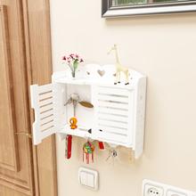 钥匙挂钩门口玄关ek5壁挂置物es件收纳盒挂衣架整理箱免打孔