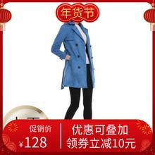 女装精品2020秋韩款新el9麂皮绒英ct身(小)个子中长式外套夹克