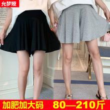 孕妇短el夏季外穿时ri宽松200斤加肥大码薄式莫代尔打底裙裤