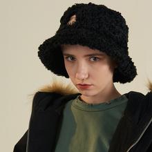 WHOOPSHOP FRLMK 潮牌复古男em18嘻哈hli情侣羊羔绒(小)熊渔夫帽