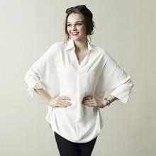 设计师em创女装品牌ks0新春夏式中长式衬衫显瘦纯色个性欧美上衣