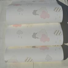 欧美进口无纺布环保壁纸宝宝房em11甲醛多aj儿满铺特价墙纸
