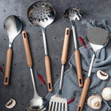 炒菜锅铲汤勺铲子不锈钢套em9厨具勺子au家用炊具七件套全套