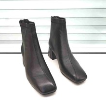 足间蝶en20-92rg跟气质女靴欧货羊皮后拉链欧美时装靴2020冬