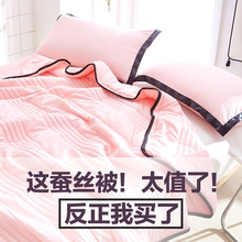 网红iens水洗棉桑ce被空调被春秋薄被子夏季单的夏凉被芯