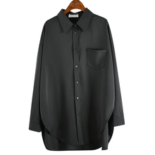 [englishjee]雪纺衬衫宽松韩版长袖衬衣