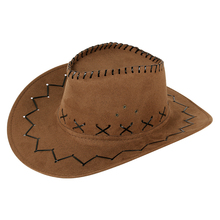 西部牛en帽户外旅游en士遮阳帽仿麂皮绒夏季防晒清凉骑士帽子