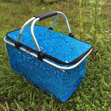 30Lep号外卖快餐la载保温包 户外野餐 保温送餐箱 折叠购物篮