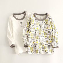 2件装 ep1童棉毛春px 男女宝宝纯棉长袖T恤打底衫日系无荧光