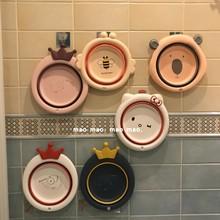 可爱学eq宿舍用折叠ip盆子家用便携式旅行洗衣盆(小)号