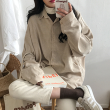 [erenyan]复古港风灯芯绒衬衫女20