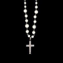 SAZer美流行复古va哈项链国潮ins风珍珠镶钻十字架配饰男女潮