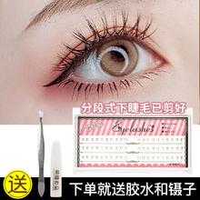 分段式假睫毛单簇下睫毛超自然短式es13妆素颜4g接效果FD01