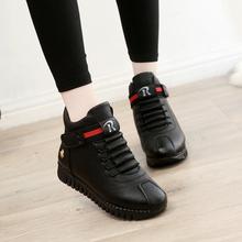 棉鞋女冬季保暖加绒202es9新款高帮4g魔术贴软底学生百搭短靴