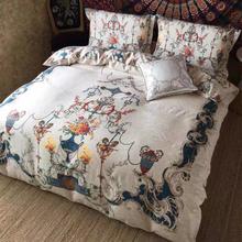 欧美宫廷风 美式es5品套件 4g四件套正品纯棉长绒棉床上用品