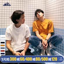 江南先生夏装新es 纯色潮男ig短袖T恤夏季阿美咔叽半袖打底衫