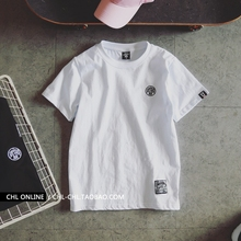 情侣装夏装白色es袖T恤女衣ig020新款韩款学生宽松半袖夏季体恤