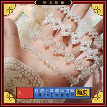 韩国网es气质复古优ui珍珠短式项链名媛镂空精致串珠锁骨链