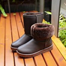 冬季中es雪地靴女式ui水韩款保暖棉靴防滑短筒靴加厚学生棉鞋