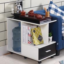 简约新es经济型现代re户型沙发边几轻奢边柜扶手几带轮茶桌