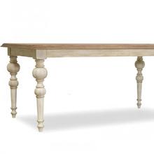 美式法et田园风格快et方形餐厅餐桌原木实木办公桌会议桌欧式