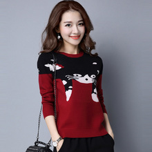 202et秋冬新式产io多斯羊绒衫女式短式针织打底衫圆领羊毛毛衣