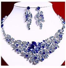 欧美时ev夸张气质女du石装饰项链晚宴新娘礼服合金首饰锁骨链