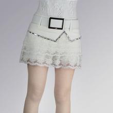 春夏新ex蕾丝花边短ts糕裤裙镶钻性感半身裙清纯蓬蓬裙显瘦潮