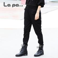 纳帕佳exP春秋季式o2伦裤宽松休闲女式长裤坠感女式显瘦裤子