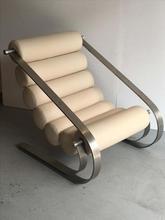 真皮沙f1办公室主卧1l厅阳台组合不锈钢意式简约创意休闲椅