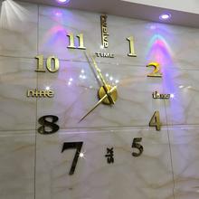 欧式免打孔现代简约挂钟 客厅时尚f113音挂表1l性时钟创意钟表