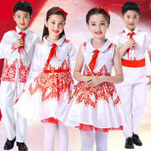 六一儿fa合唱服我是ro歌咏表演服装中(小)学生诗歌朗诵演出服装