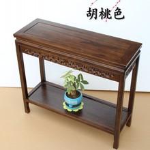 榆木沙fa边几实木 ro厅(小) 长条桌榆木简易中式电话几