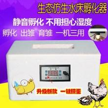 鸡蛋浮fa箱家用(小)型io全自动孵化箱(小)鸡孵化设备卵化。