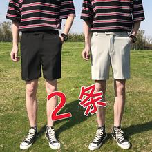 短裤男夏季潮流fa4松五分裤dz筒(小)西裤男装裤子大码休闲裤外穿