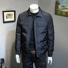 冬季新fa羽绒服男士ry身翻领轻薄外套简约百搭青年保暖羽绒衣